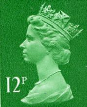 12p Discount GB Postage Stamp